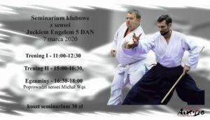 Seminarium klubowe z sensei Jackiem Engelem 5 dan @ Słowackiego 60 Dojo Klubbu Aikido Aikikai | Piotrków Trybunalski | województwo łódzkie | Polska