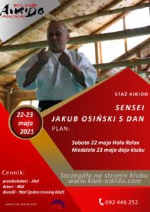 Wiosenne staż aikido z sensei Jakubem Osińskim 5 dan – shidoin CAA Polska @ Hala Sportowa RELAX | Piotrków Trybunalski | Łódzkie | Polska